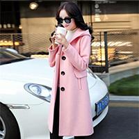 2016秋冬新款修身型女装毛呢外套韩版中长款时尚羊毛呢子大衣