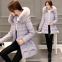 2016冬季新款女装羽绒棉衣中长款修身女棉袄女士冬季连帽外套时尚