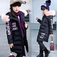 中大童女装12岁儿童装女童秋冬装棉衣外套2016新款女孩加厚棉袄15
